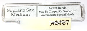 Avant Synthetic Soprano Saxophone Reed
