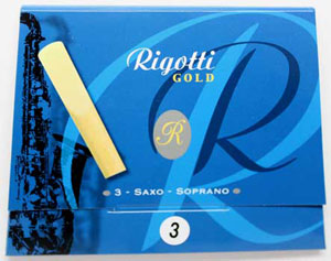 Rigotti Gold Soprano Sax Reeds, 3/Packet