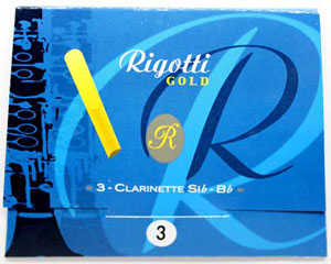 Rigotti Gold Clarinet Reeds, 3/Packet