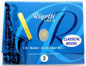 "Rigotti Gold ""Classic"" Alto Sax "" Reeds, 3/Packet"