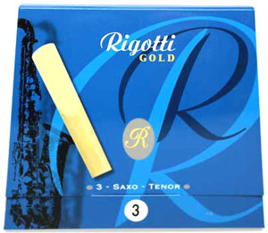 Rigotti Gold Tenor Sax Reeds, 3/Packet