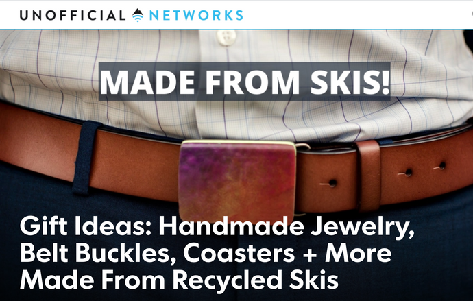 Gift Ideas: Handmade Jewelry, Belt Buckles, Coasters + More Made from Recycled Skis