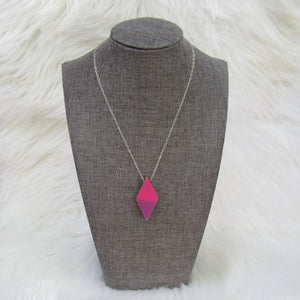 Double Diamond Ski Necklace