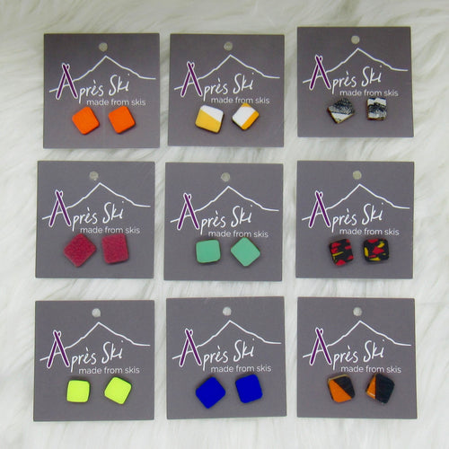 Slalom Stud Ski Earrings