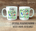 Copy of PERSONALISE ME! Illustrated Parrot Mug