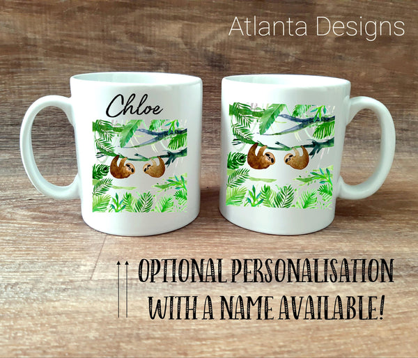 PERSONALISE ME! Illustrated Sloth Mug