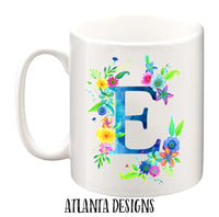 Personalised Name Mug - Tropical Flowers