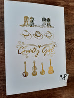 A4 Metallic Country Prints