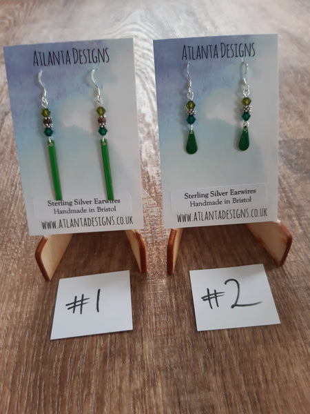 Enamelled Drop Earrings