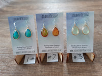 Iridescent Drop Earrings/ Necklaces