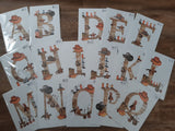 A4 Country Alphabet Prints