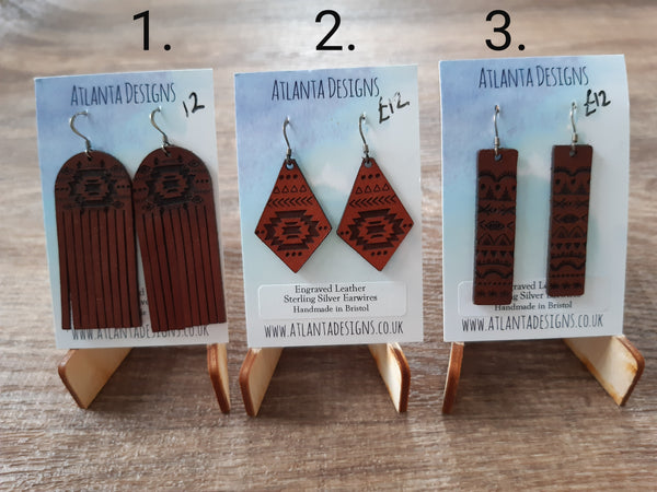 Leather Country-Inspired Earrings