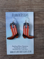 Cowboy Boot Earrings or Necklace