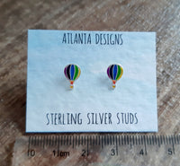 Hot Air Balloon Stud Earrings - Purple