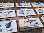 Illustrated Plaques - Diving & Sealife