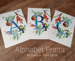 Tropical Alphabet Prints - Jungle & Sloths