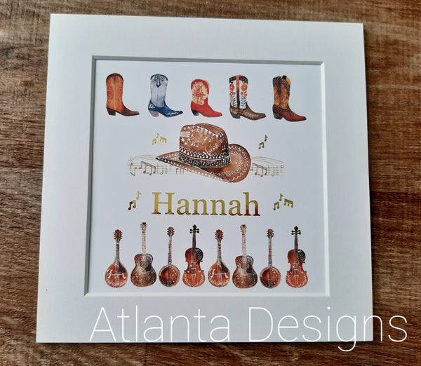 Personalised Name Prints - Country