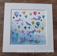 Personalised Name Prints - Balloons