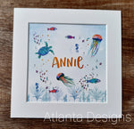 Personalised Name Prints - Ocean