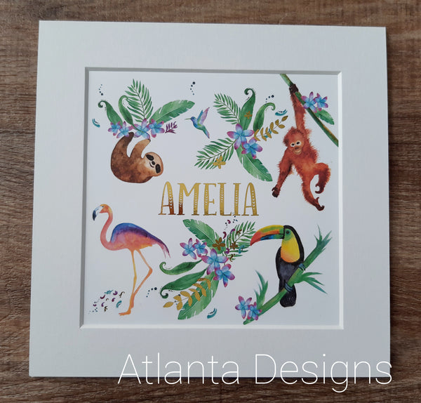 Personalised Name Prints - Tropical