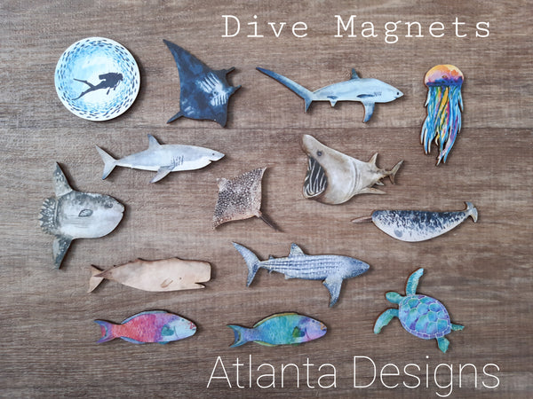 Diving & Sealife Magnets