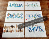 Personalised Name Prints - Ocean & Diving