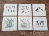 "8""x8"" Watercolour Prints - ALL DESIGNS - GBF"