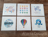"ANIMALS, BALLOONS & GENERAL - 8""x8"" Watercolour Prints"