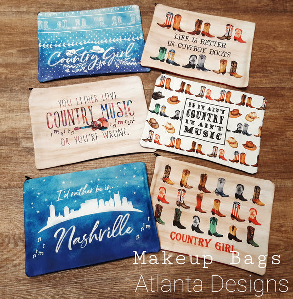 Country Makeup Bags - Illustrated Gifts