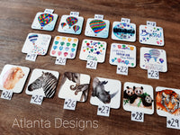 Illustrated Coasters -Animals, Balloons & Scuba Diving