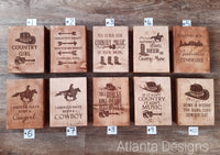 Country Engraved Wooden Decorations