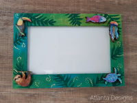 Handpainted Photo Frame #5 Tropical Animals