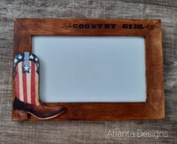 Handpainted Country Photo Frame #3