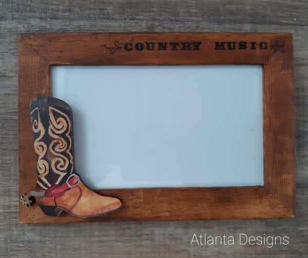 Handpainted Country Photo Frame #2