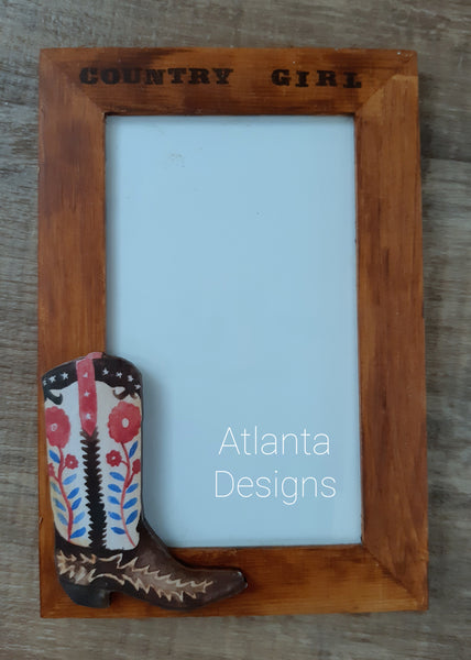 Handpainted Country Photo Frame #1