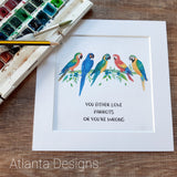 Macaws Parrot Print - Choose Your Quote!