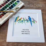 Mixed Parrot Print - Choose Your Quote!