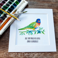 Lorikeet Parrot Print - Choose Your Quote!