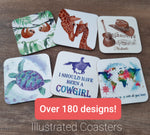 Custom Made Coasters - 180+ Designs! Country, Diving & Animals