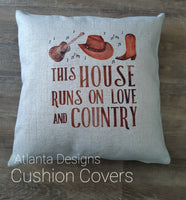 Custom Cushion Covers - Country Music & Cowboys