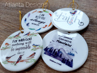 Set of 4 Ceramic Hanging Decorations - Bible Verses GBF