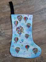 Small Christmas Stocking - Balloons