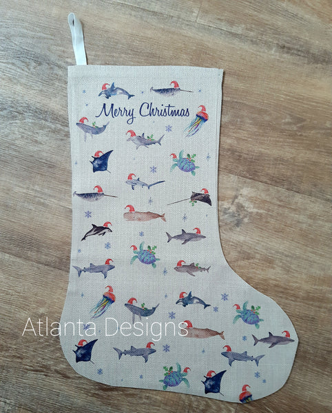 PERSONALISE ME! Large Christmas Stocking - Ocean & Scuba Diving