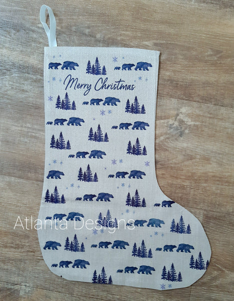 PERSONALISE ME! Large Christmas Stocking - Polar Bears