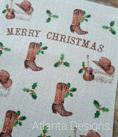 PERSONALISE ME! Large Christmas Stocking - Country Music & Cowboys