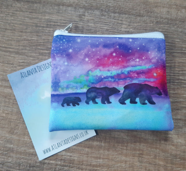 Bears & Northern Lights Coin Purse