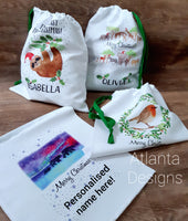 Personalised Christmas Stocking - Northern Lights Bears