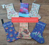 Small Christmas Stocking - Safari