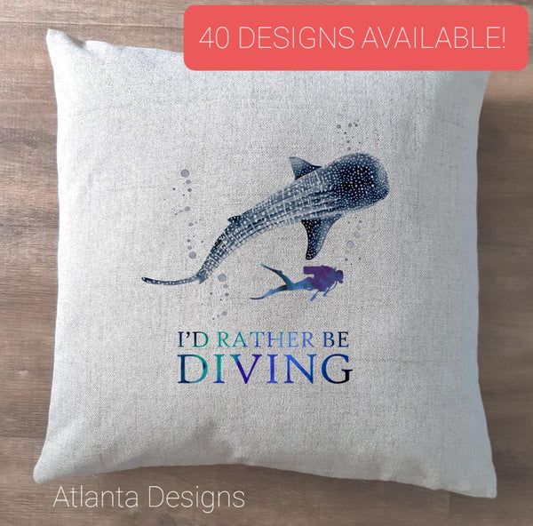 Scuba Diving Cushions - 40 Designs Available!