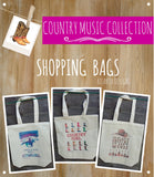 COUNTRY MUSIC - Canvas Bags - Illustrated Gifts
